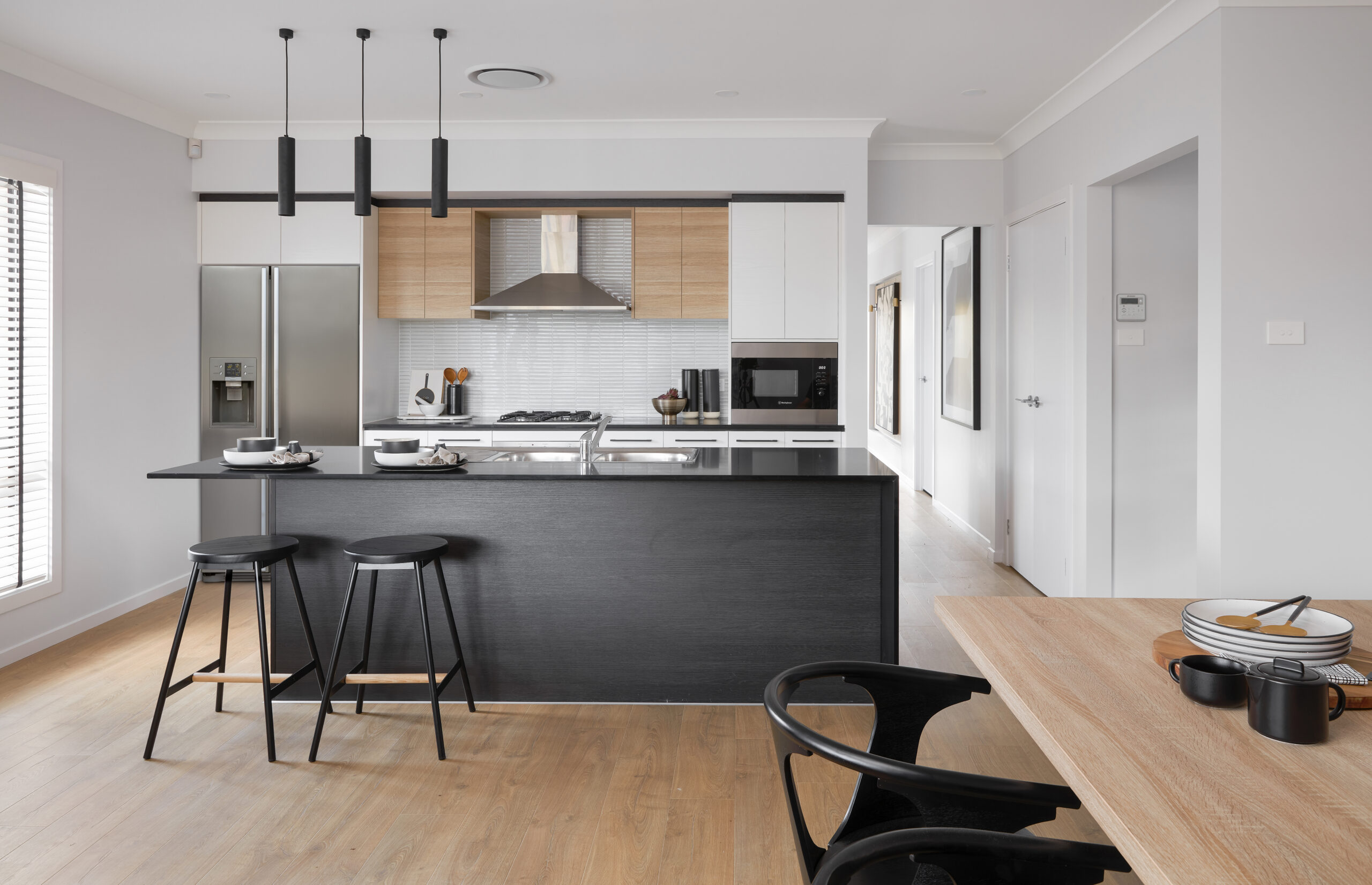 The kitchen of the Bayswater 20 floorplan by Bellriver Homes in Aastral