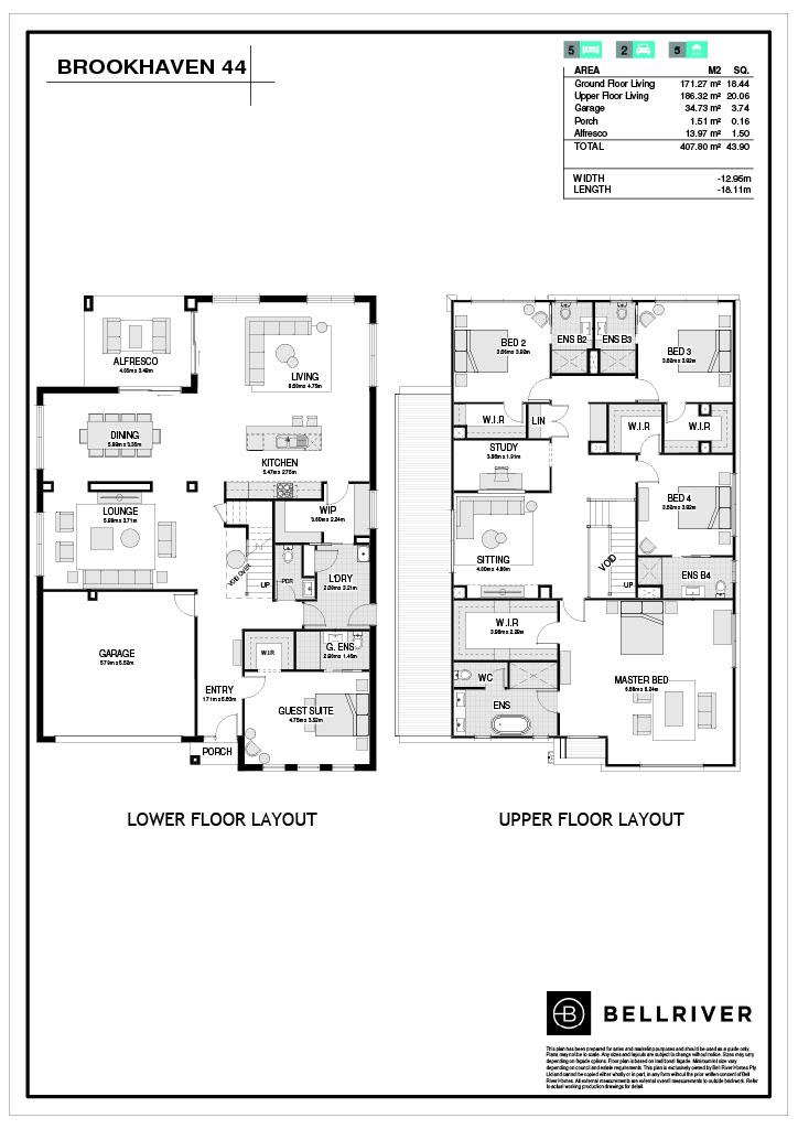 "Bellriver Homes ""Brookhaven 44"" floorplan. Now open for viewing at 70 Warringah Road, Narraweena, NSW 2099"